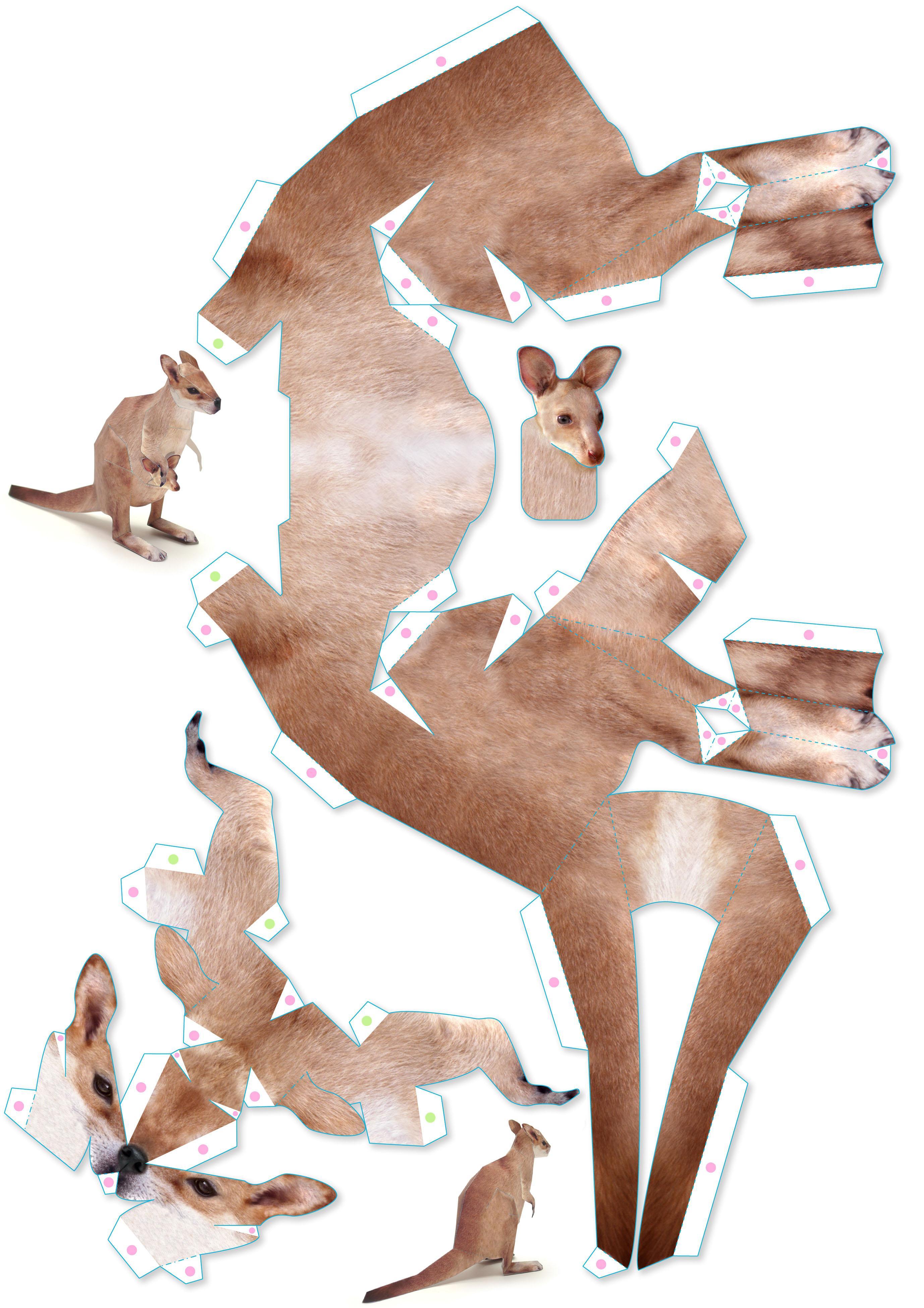 Поделки из бумаги объемные животные