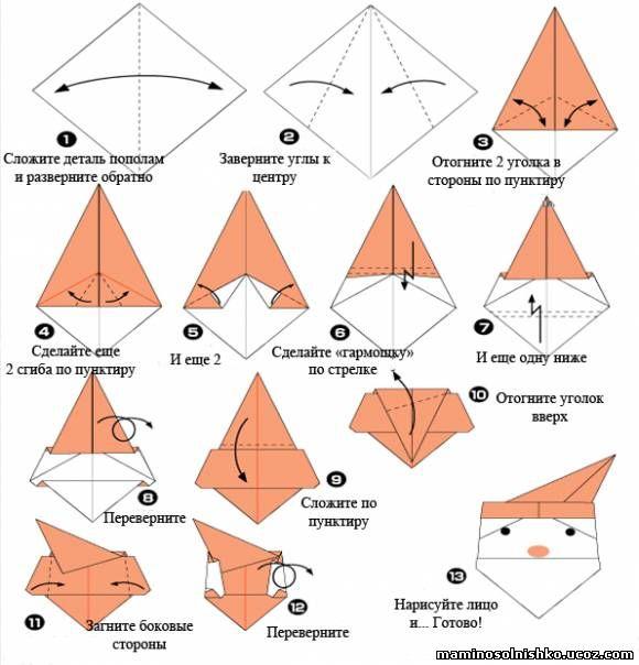 Как сделать из бумаги новогоднюю игрушку оригами