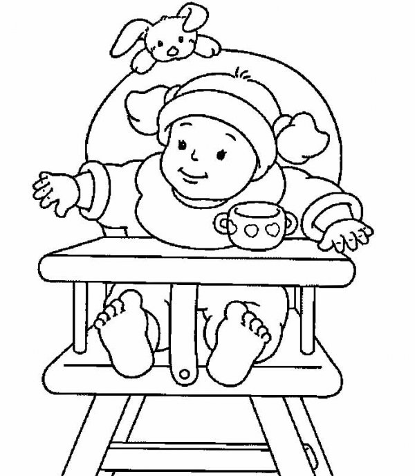 Раскраски маленького ребенка